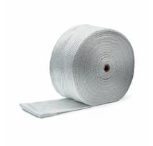 Wit glasvezel uitlaat tape   MED 10cm x 30m x 6mm tot 600 °C    MED / IMO gecertificeerd