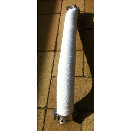 Heat Shieldings Exhaust Wrap White 15cm x 30m max  550 °C | MED