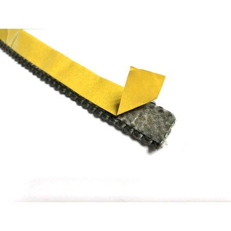 Heat Shieldings 20mm x 4mm x 1m Hittebestendige afdichting  met zelfklevende laag  - Kachelkoord plat