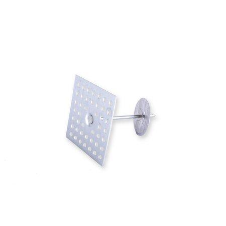Heat Shieldings 53mm Plakpen geperforeerd