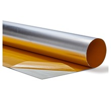 60 x 32 cm | 0,3mm | Wärmereflektierende Folie Aluminium 400 °C