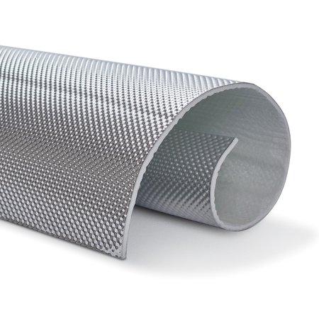 Heat Shieldings 5mm   ARMOR selbstklebend   Hitzebeständiges mattes Glasfaserglas mit robuster Aluminiumschicht bis 950 ° C.