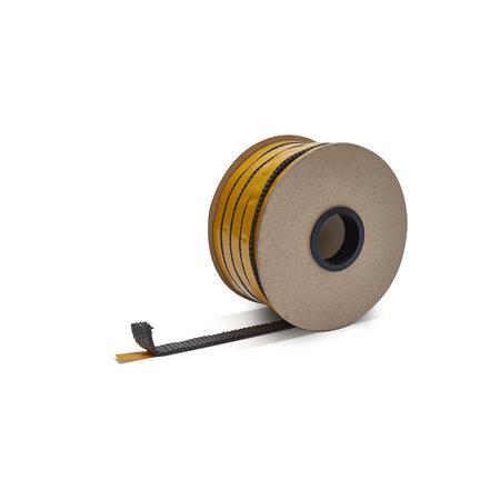 Heat Shieldings 20mm x 4mm x 25m Hittebestendige afdichting  met zelfklevende laag  - Kachelkoord plat
