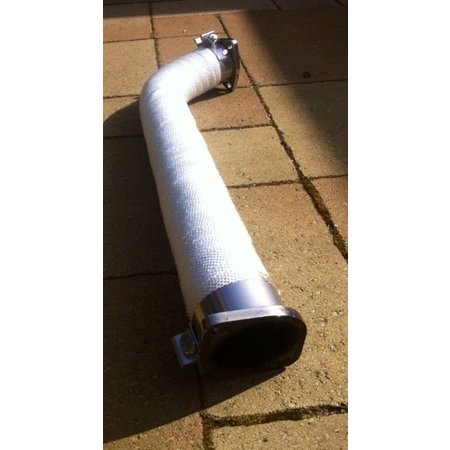 Heat Shieldings SALE Wit 10 cm x 25 m x 3 mm  glasvezel uitlaatband MED gekeurd - Rest materiaal