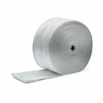 SALE Wit 10 cm x 25 m x 3 mm  uitlaatband MED gekeurd - Rest materiaal