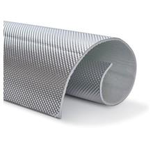 1,3 m² | 5 mm | ARMOR selbstklebend | Hitzebeständiges mattes Glasfaserglas mit robuster Aluminiumschicht bis 950 ° C.