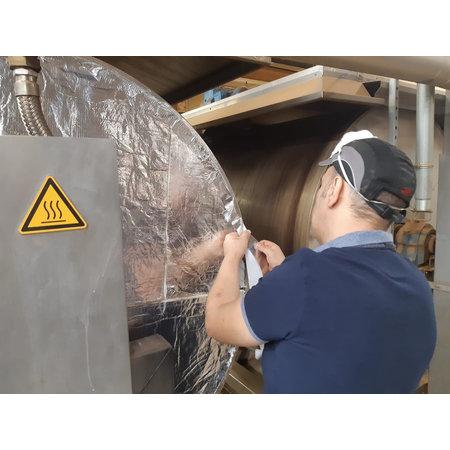 Heat Shieldings 1 m² | 15 mm | THERMO BLOCK hitzebeständige Glasfaser-Isoliermatte bis zu 550 ° C.