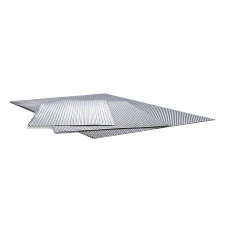 Heat Shieldings Hittewerende en geluiddempende aluminium plaat met dubbele reliëf 600 x 500