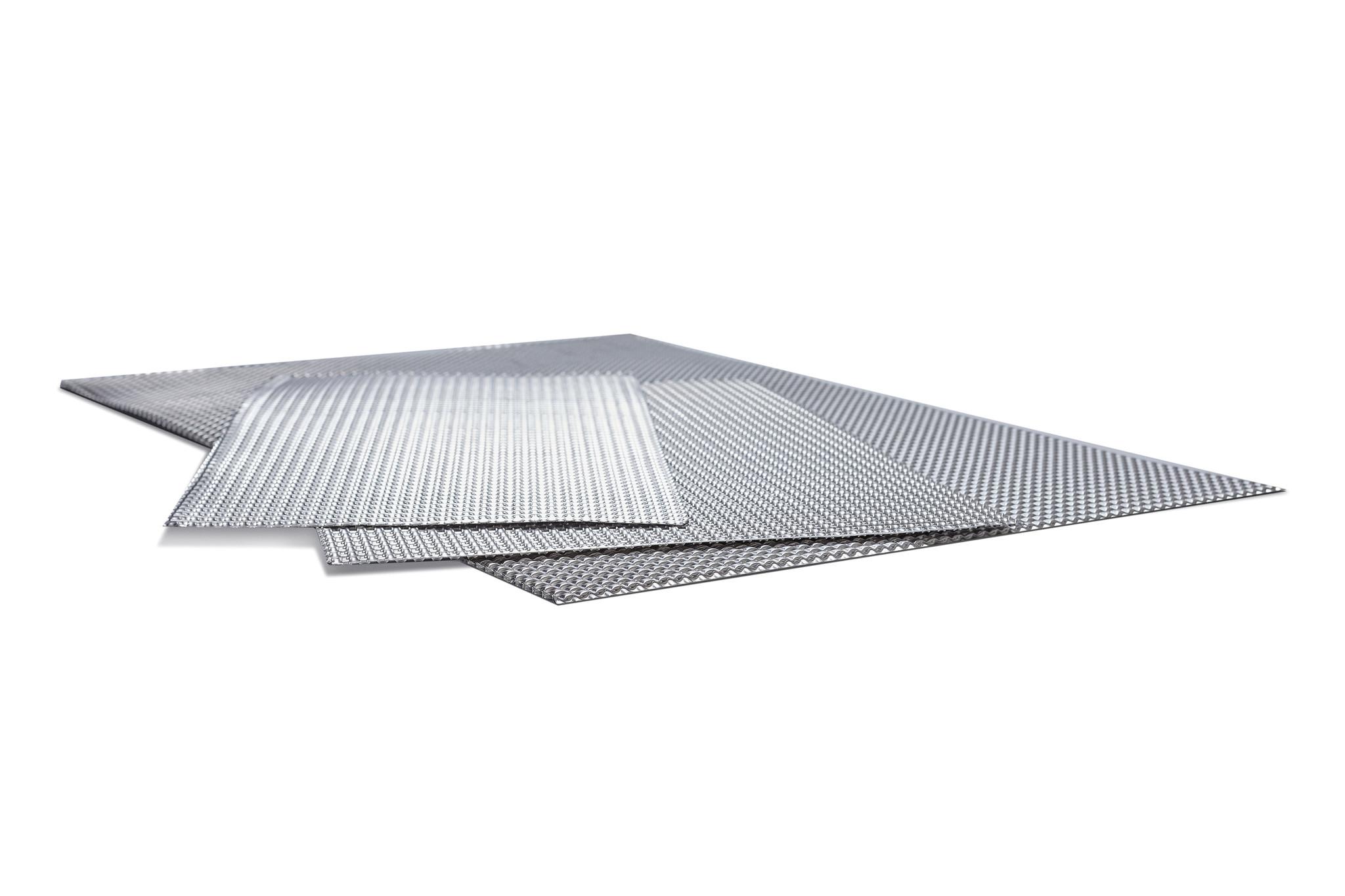 Heat Shieldings Hitzebeständig Platte Doppel geprägt 600 x 500