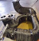 Heat Shieldings Titanium basaltvezel uitlaatband 7.5cm x 30m tot 800 °C