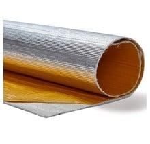 30 x 32 cm   3 mm    BASIC Hittewerende mat glasvezel met aluminium laag zelfklevend