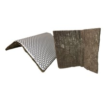 0,16 m² | 5 mm | Titanium ARMOR zelfklevend | Hittewerende mat basaltvezel met stevige aluminium laagtot 950 °C