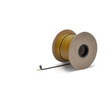 10mm x 3mm x 100m  Heat-resistant seal with self-adhesive layer | Stove rope