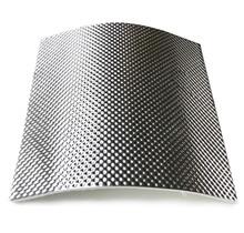 25 x 25 cm | 5 mm | ARMOR selbstklebend | Hitzebeständiges mattes Glasfaserglas mit robuster Aluminiumschicht bis 950 ° C.