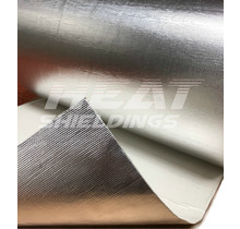80 x 50 cm   1 mm    BASIC Selbstklebender Hitzeschutz Fiberglas Aluminium