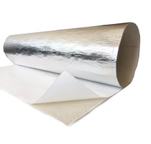80 x 50 cm   1 mm    BASIC Adhesive Backed Heat Barrier Fiberglass with aluminum foil