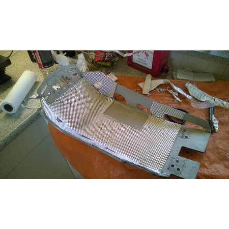 Heat Shieldings 5mm | ARMOR self-adhesive | Heat-resistant matt fiberglass with sturdy aluminum layer up to 950 ° C