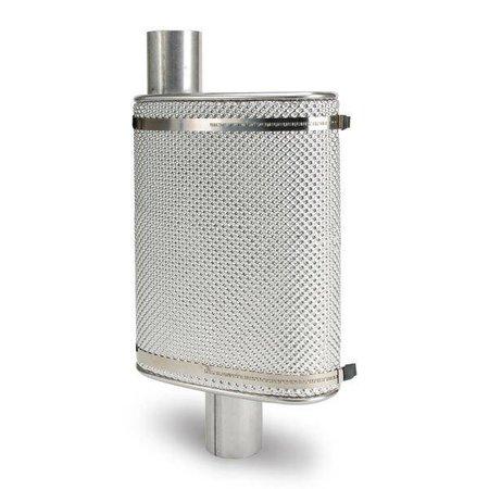 Heat Shieldings Uitlaatschild kit aluminium hittewerend voor op demper