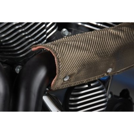 "DEI//Design Engineering Titanium Car Exhaust Pipe Heat Shield In 4/"" x"