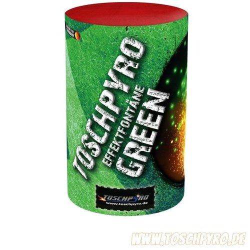 Toschpyro® Effektfontäne mit grüner Überraschung