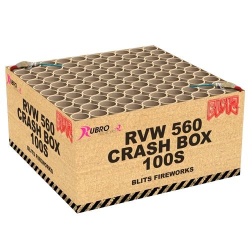 Rubro Fireworks Rubro Crash Box 100's