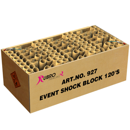 Rubro Fireworks Event Shock Block 120´S