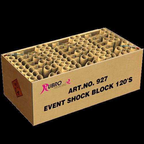 Rubro Fireworks Event Shock Block 120´S