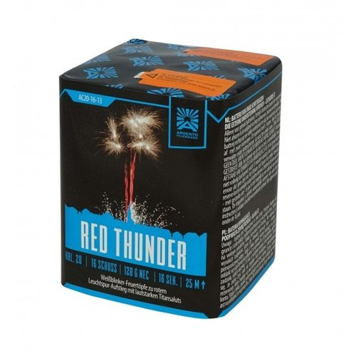 Argento Feuerwerk Red Thunder, 6er