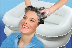 Opblaasbare haarwasbak