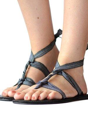 Sandalen Zwart  Wit