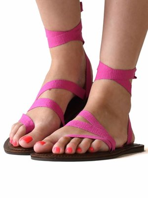 Sandals Deep pink
