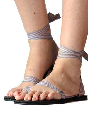 Sandalen Blauw Sparkle
