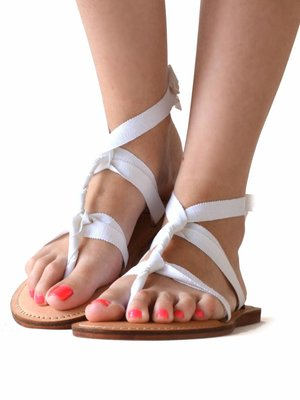 Sandals Snow white