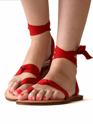 Sandals Red love