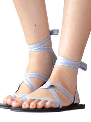 Sandalen Pastelblauw