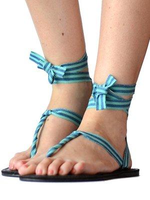 Sandalen Blauwe strepen