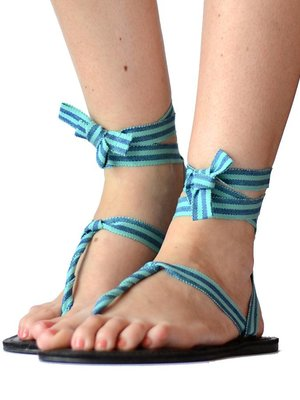 Sandals Blue stripes