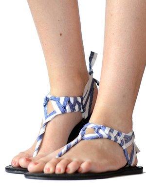 Sandalen Blauw Wit