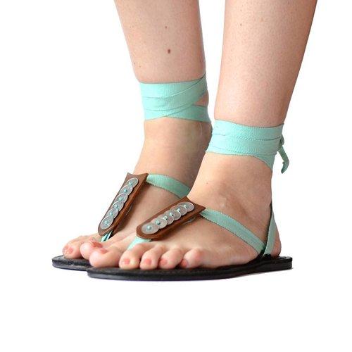 Sandals Light Aqua