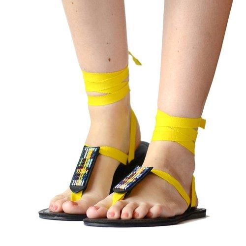Sandals Sun Yellow