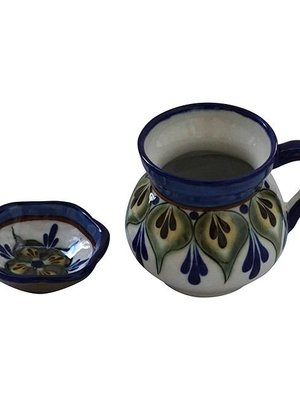 Mugs and saucer Green