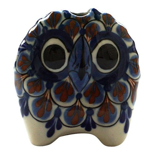 Small stoneware Owls Blue