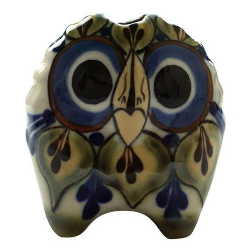 Small stoneware Owls Green