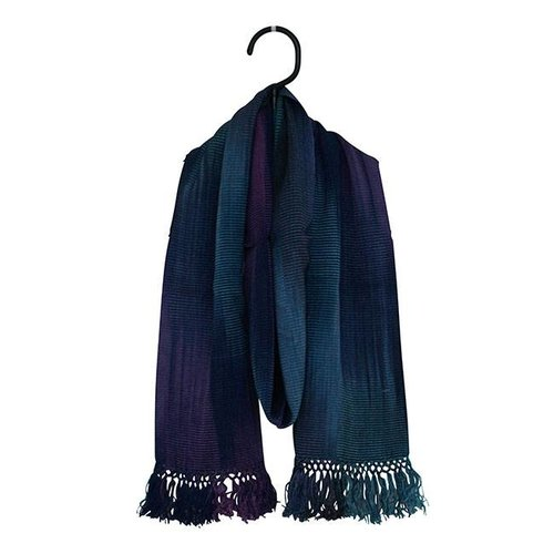 Bamboo Scarves Blue Purple