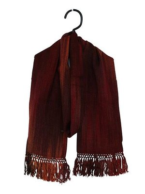 Bamboo Scarf Deep Red