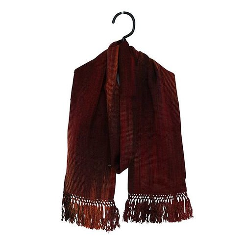 Bamboo Scarves Deep Red