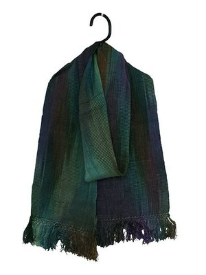 Bamboo Scarves Green and blue