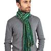 Men Scarf Green Stripes - Fairtrade