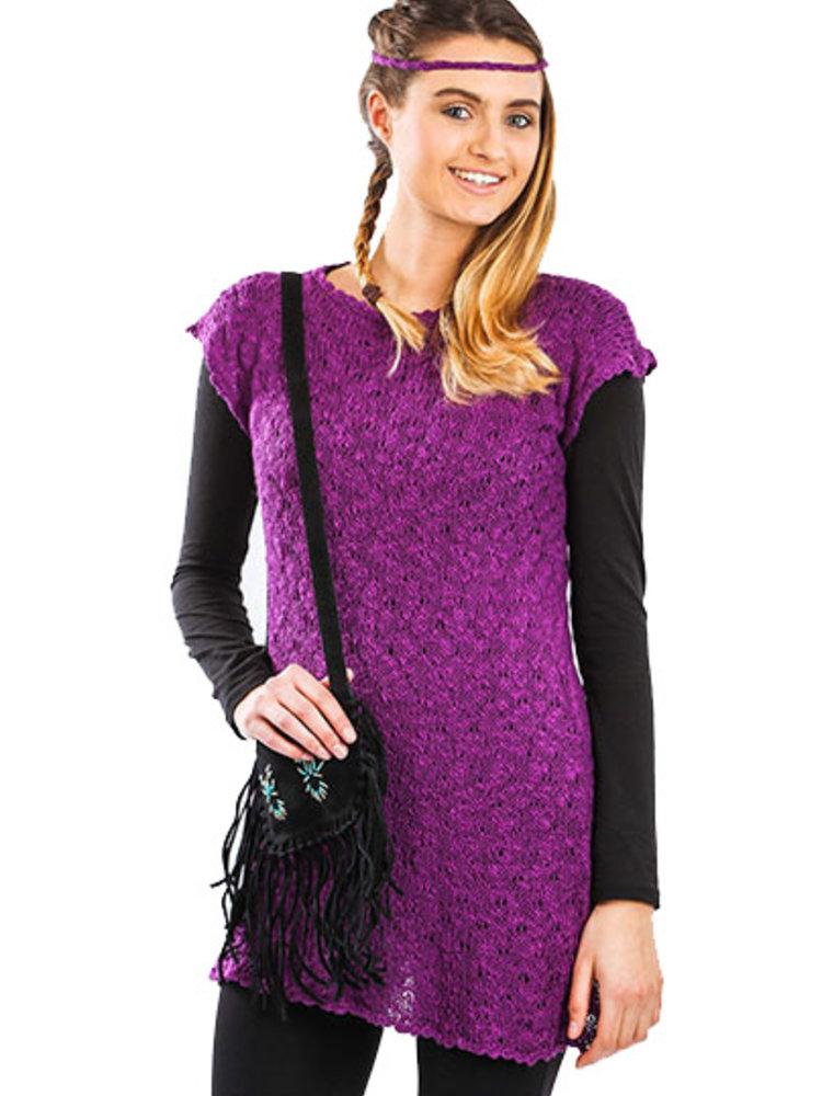 56c2d4e9aa8 Tunic Dress Wild Orchid - Pretty and stylish with leggings. - Quetzal  Artisan