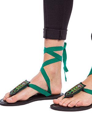 Sandalen Smaragdgroen